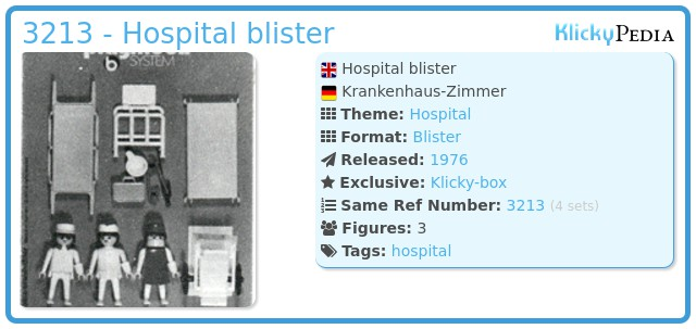 Playmobil 3213 - Hospital blister