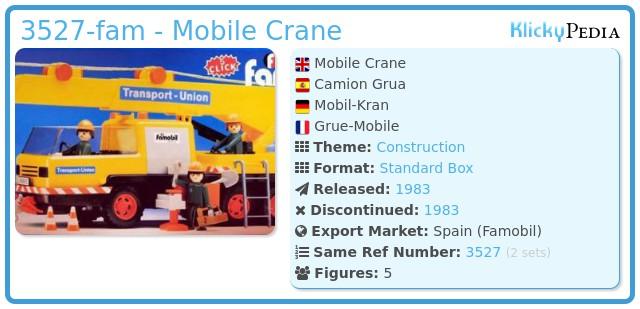 Playmobil 3527-fam - Mobile Crane