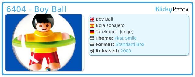 Playmobil 6404 - Boy Ball