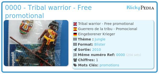Playmobil 0000 - Tribal warrior - Free promotional