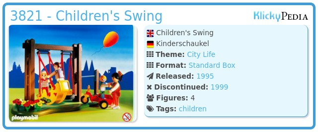Playmobil 3821 - Children's Swing