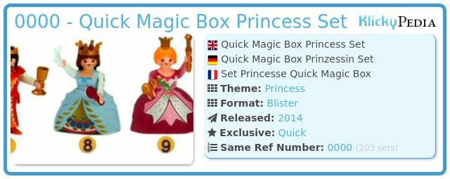 Playmobil 0000 - Quick Magic Box Princess Set