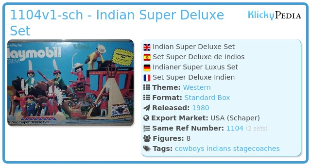 Playmobil 1104v1-sch - Indian Super Deluxe Set