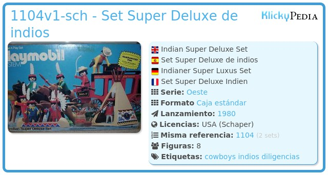 Playmobil 1104v1-sch - Indian Super Deluxe Set