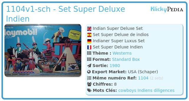 Playmobil 1104v1-sch - Set Super Deluxe Indien