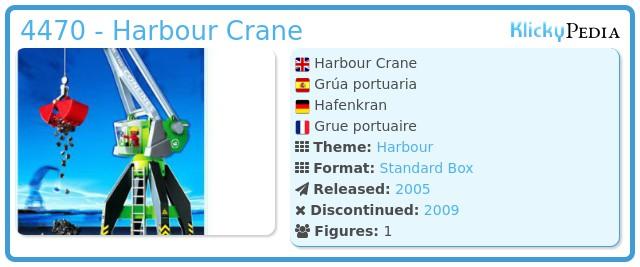 Playmobil 4470 - Harbour Crane
