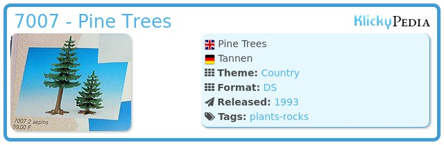 Playmobil 7007 - Pine Trees