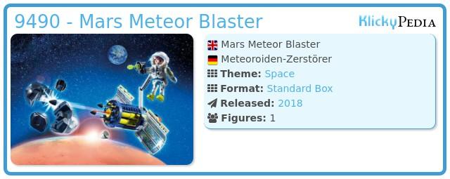 Playmobil 9490 - Mars Meteor Blaster