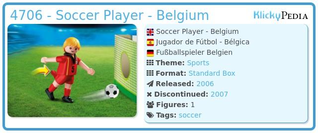 Playmobil 4706 - Soccer Player - Belgium