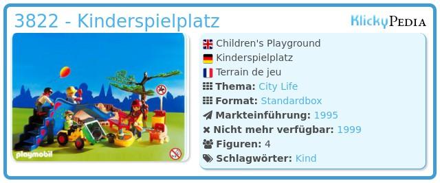 Playmobil 3822 - Kinderspielplatz