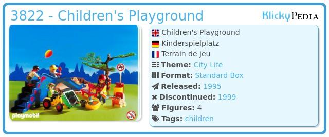 Playmobil 3822 - Children's Playground