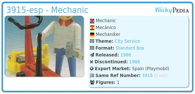 Playmobil 3915-esp - Mechanic