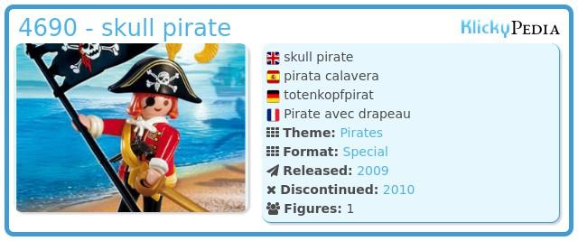 Playmobil 4690 - skull pirate