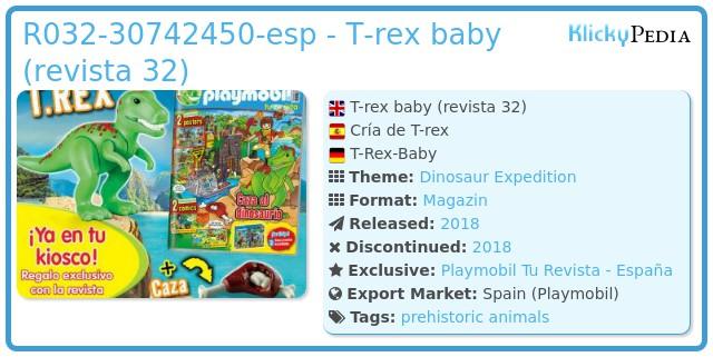 Playmobil 032-30742450 - T-rex baby (revista 32)