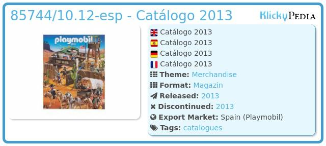 Playmobil 85744/10.12-esp - Catálogo 2013
