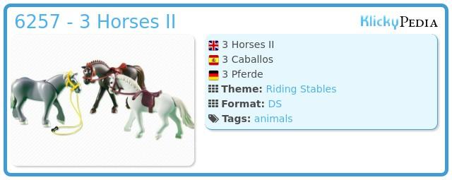 Playmobil 6257 - 3 Horses II