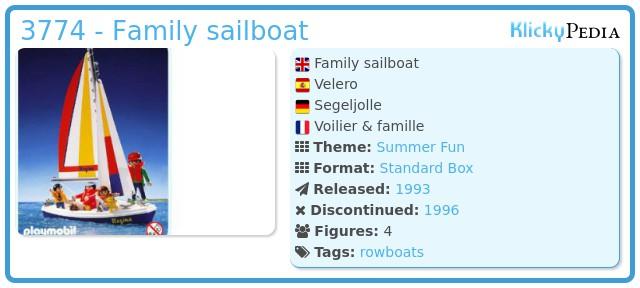 Playmobil 3774 - Family sailboat