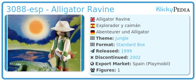 Playmobil 3088-esp - Alligator Ravine