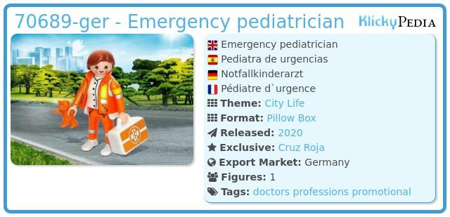 Playmobil 70689-ger - Pediatrician