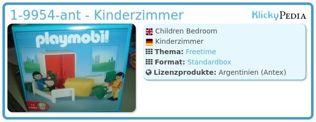 Playmobil 1-9954-ant - Kinderzimmer