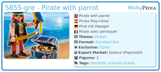 Playmobil 5855-gre - Pirate with parrot