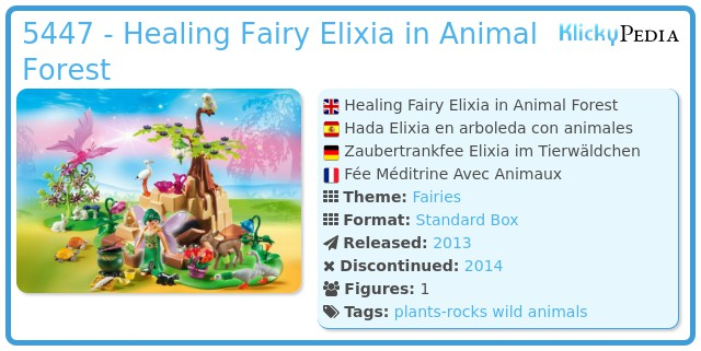 Playmobil 5447 - Healing Fairy Elixia in Animal Forest