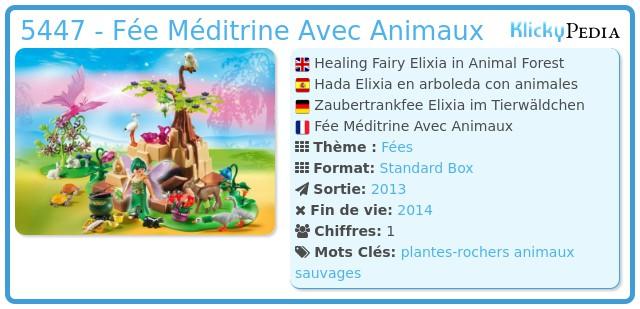 Playmobil 5447 - Fée Méditrine Avec Animaux
