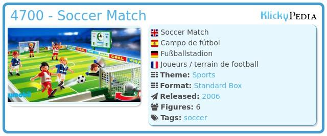 Playmobil 4700 - Soccer Match