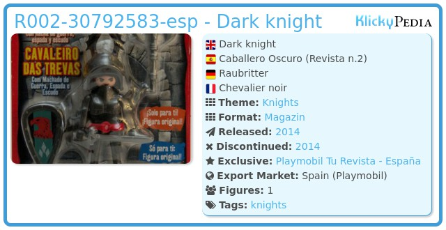 Playmobil R002-30792583-esp - Dark knight
