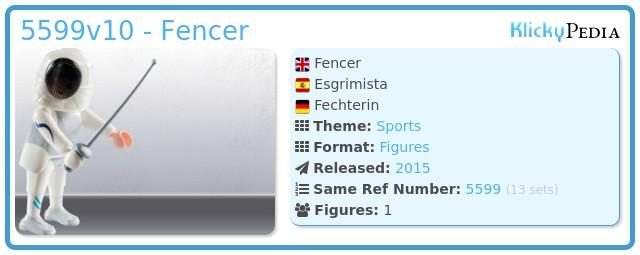 Playmobil 5599v10 - Fencer