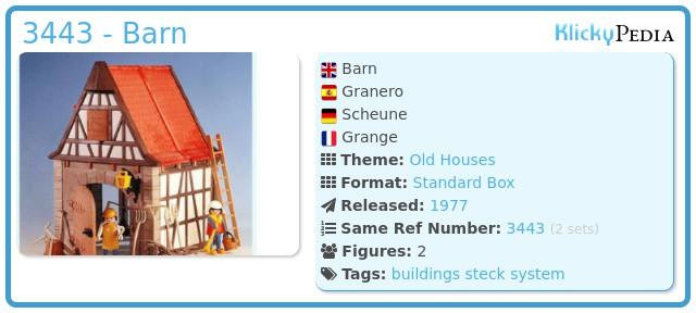Playmobil 3443 - Barn