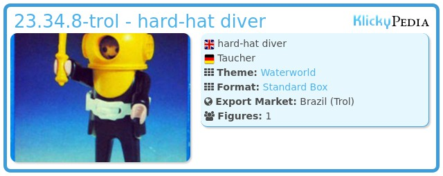 Playmobil 23.34.8-trol - hard-hat diver