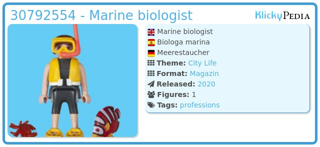 Playmobil 30792554 - Marine biologic
