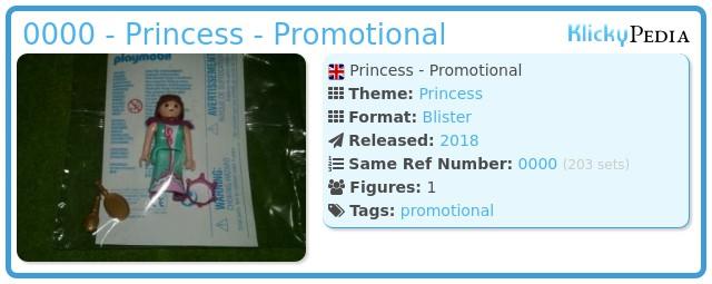 Playmobil 0000 - Princess - Promotional