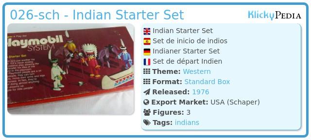 Playmobil 026-sch - Indian Starter Set