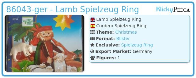 Playmobil 86043-ger - Lamb Spielzeug Ring
