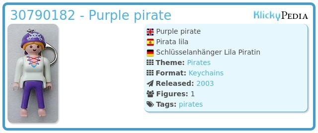 Playmobil 30790182 - Purple pirate
