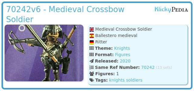 Playmobil 70242v6 - Medieval Crossbow Soldier