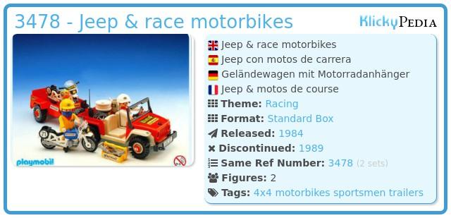 Playmobil 3478 - Jeep & race motorbikes