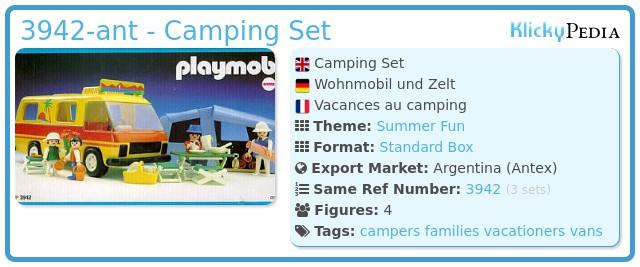 Playmobil 3942-ant - Camping Set