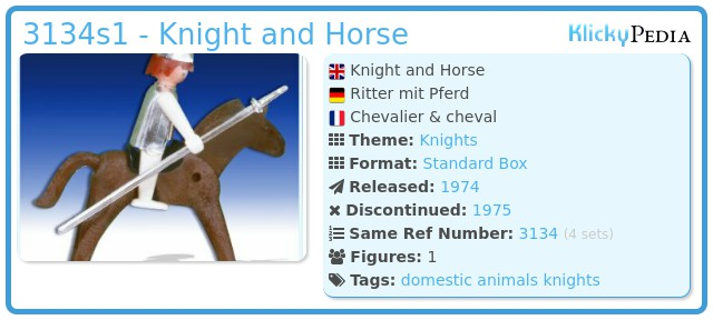 Playmobil 3134s1 - Knight and Horse