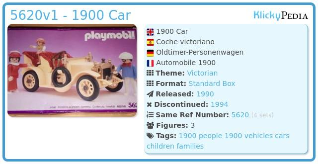 Playmobil 5620v1 - 1900 Car