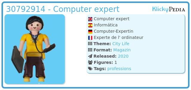 Playmobil 30792914 - Computer expert
