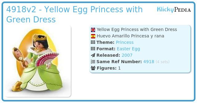 Playmobil 4918v2 - Yellow Egg Princess with Green Dress
