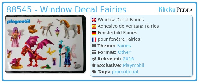 Playmobil 88545 - Window Decal Fairies