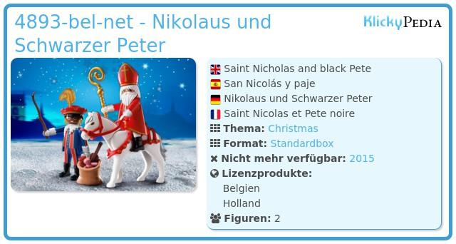 Playmobil 4893-bel-net - Nikolaus und Schwarzer Peter