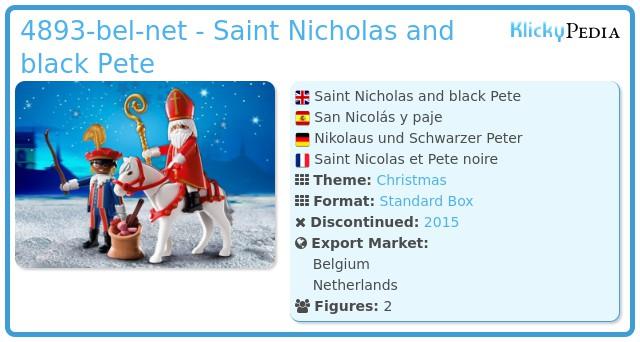 Playmobil 4893-bel-net - Saint Nicholas and black Pete
