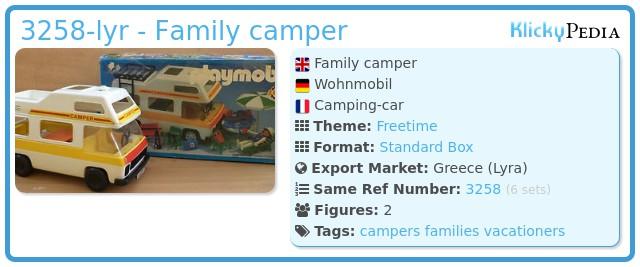Playmobil 3258-lyr - Family camper