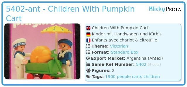 Playmobil 5402-ant - Children With Pumpkin Cart