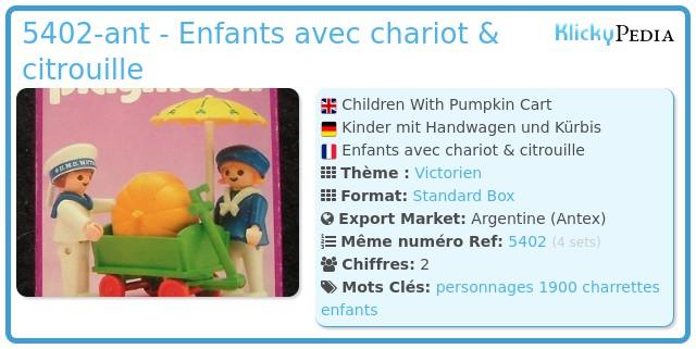 Playmobil 5402-ant - Enfants avec chariot & citrouille